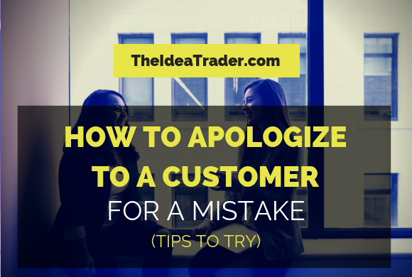 how to apologize to a customer for a mistake