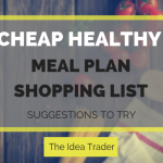 cheap healthy meal plan shopping list
