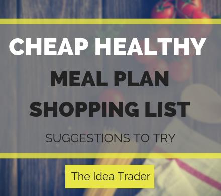 cheap healthy meal plan shopping list